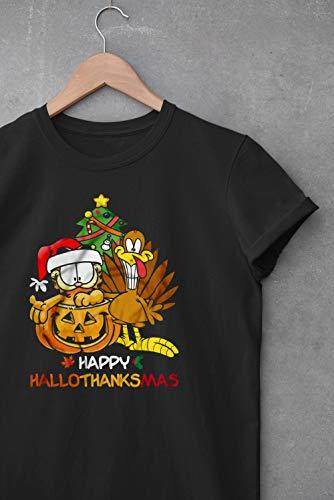 Háppy Hállothánksmás Mémé Thánksgiving Dáy Gárfiéld Shirt Shirt A Christmás Story Funny Holidáy T Shirt Hállowéén Néw Year Gift Hándmádé