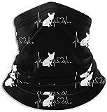 asdew987 Heartbeat Bulldog - Braga para cuello, calentador de oídos, bufanda, máscara facial