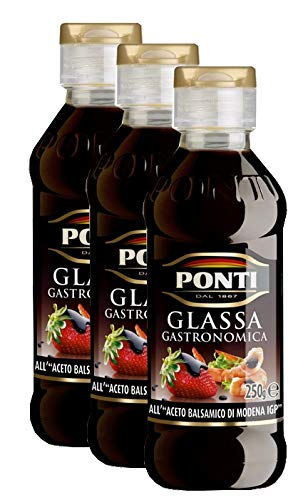 3x Ponti Glassa Gastronomica 'Balsamicocreme', 200 ml
