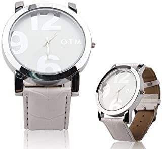 Watch Digital Style Unisex Quartz Wrist Watch with Leather Band Strap for Girl Boy, Fashion Watch (Color : White)