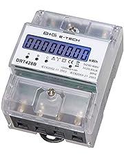 B+G E-Tech DRT428B digitale draaistransformator, stroommeter voor DIN DIN-rail - energiemeter 400 V 20 (80) A met S0-interface