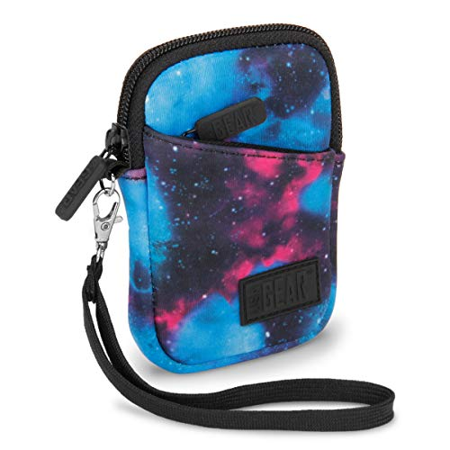 USA GEAR Compact Digital Camera Case Sleeve - Compatible with Nikon COOLPIX S33, AW130, A10, S3700, L32 and More Point and Shoots - Padded Neoprene, Extra Accessory Storage and Belt Loop - Galaxy