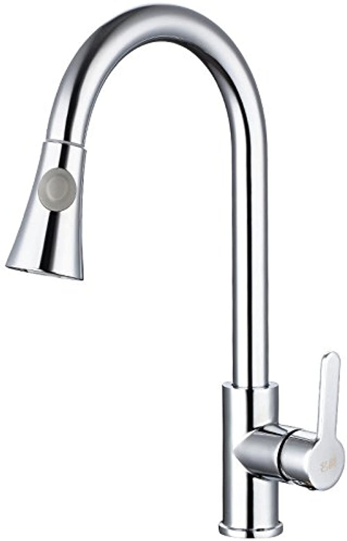 QIMEIM Küchenarmatur Spültischarmatur Spülbecken Armatur Messing kalt hei herausziehen Wasserhahn Küche Mischbatterie Spülarmatur