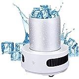 VIVICL Máquinas para Hacer Hielo Automático De Acero Inoxidable Portátil Pequeño Encimera Mini Vehículo Máquina De Hielo 15 Minutos Refrigeración Inteligente Rápida para El Autocaravana