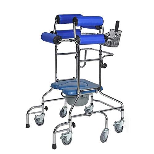 LYP Andador Rollator Presidente Andador Walker Caminar Ayuda a la Movilidad con la cómoda for Miembro Inferior Formación Rehabilitación, Ruedas anticaída Diseño