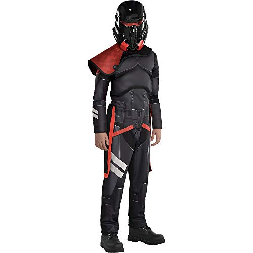 Party City Purge Trooper Muscle Halloween Costume for Child, Star Wars Jedi: Fallen Order, Small, Jumpsuit, Cape, Mask
