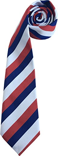 Great British Tie Club Drapeau Français Cravate - Bleu, Blanc et Rouge