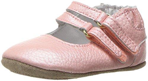 Robeez Girls Mary Jane-Mini Shoez, Rose-Pink, 12-18 Months M US Toddler