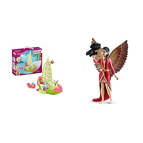 Schleich 42444 bayala Spielset - Seras magisches Blütenboot, Spielzeug ab 5 Jahren & 70586 bayala Spielset -...