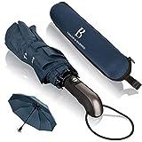 Regenschirm sturmfest bis 140 km/h - Taschenschirm mit zertifizierter Teflon-Beschichtung gegen Feuchtigkeitsschäden - LOGAN & BARNES - Modell Manchester