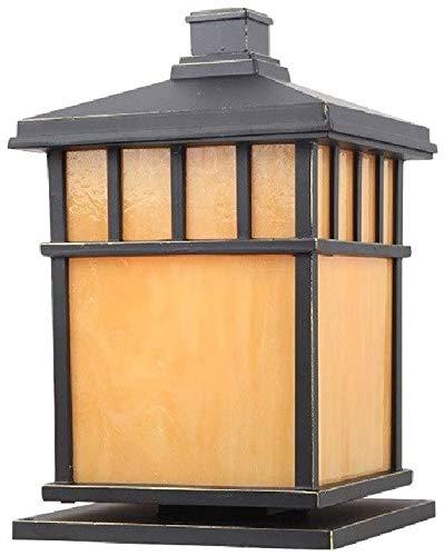 Wlnnes Européenne Rural Victoria Verre Colonne Lampe Traditionnel E27 Retro Outdoor Post Street Aluminium Lumière Place Décoration étanche Jardin Villa Porte Lampe sur Pied (Color : H32CM)