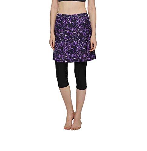 Westkun damskie duże rozmiary pływackie legginsy wysoka talia spodnie spodnie jednolity kolor surfing plaża atletyczne bieganie Capri spódnice