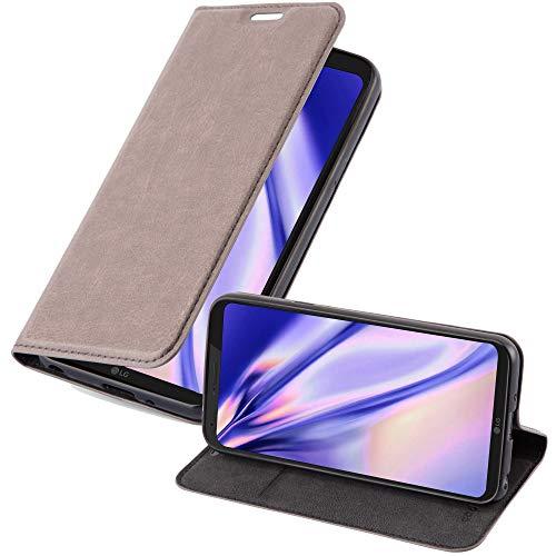 Cadorabo Hülle für LG Q6 - Hülle in Kaffee BRAUN – Handyhülle mit Magnetverschluss, Standfunktion & Kartenfach - Hülle Cover Schutzhülle Etui Tasche Book Klapp Style
