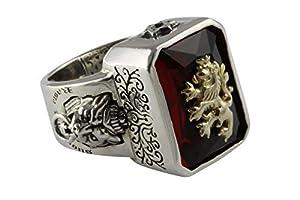 myringshop Löwen Ring Rasta Löwe Lion Silberring 925 Silber