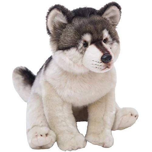 Vbtsqp Juguete de Peluche de Lobo Animal de simulación de 38 cm muñeca de Lobo Feroz El Lindo Juguete Peludo es Adecuado para niños de Todas Las Edades
