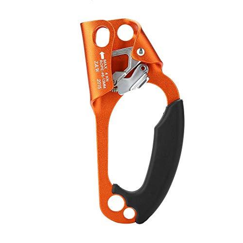 Tbest Handsteigklemme Ascender Seilklemme Klettern Rechte Hand Ascender Kletterhand Klettergriff rechts für 8mm-13mm Seil rechtshändige Kletterausrüstung-grün/orange/grau(Orange)