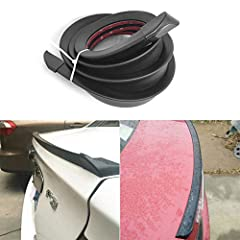 Adjustable:L 1.5m x W 3.8 cm ,the Car Rear Spoilers can be cut up your need. Universal:HIYAZONE Car Rubber Strip is universal ,can use for most popular cars Waterproof:High-density waterproof material, water directly condenses into water droplets on ...
