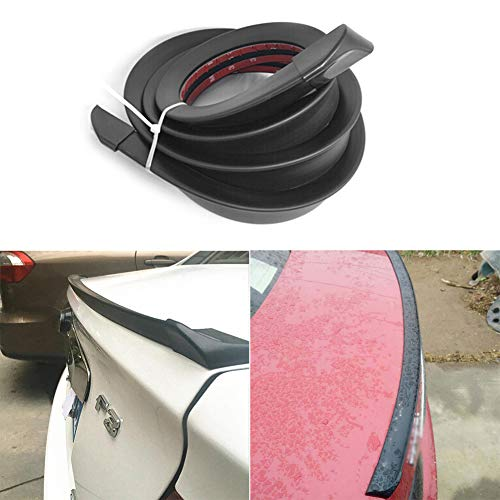 1.5m/4.92ft Universal Car Rubber Strip Bar Spoiler Tailfin Tail Fin Rear Wing Tailgate Hatchback for Most Popular Cars