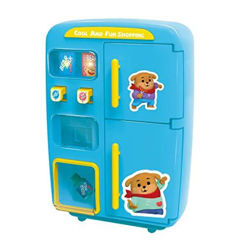 sharprepublic Simulación Refrigerador Máquina Expendedora Juegos de Simulación Cocina Juguete Regalos - Azul, Los 28.5x13x27.5cm