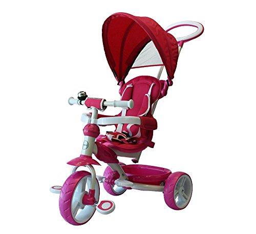 Macilux Triciclo Para Bebe 4 En 1 Color Rosa