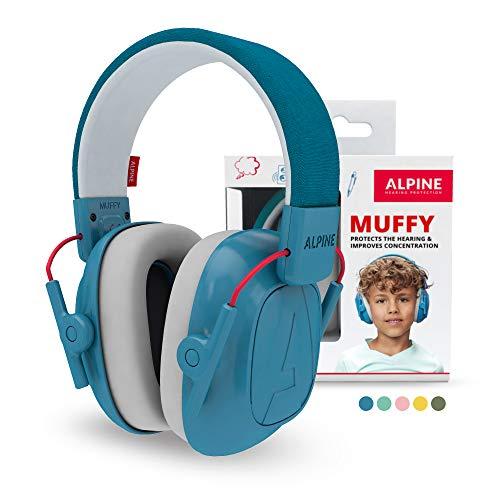 Alpine Muffy Protectores de Oído para Niños - Cascos Antiruido para niños de hasta 16 años...
