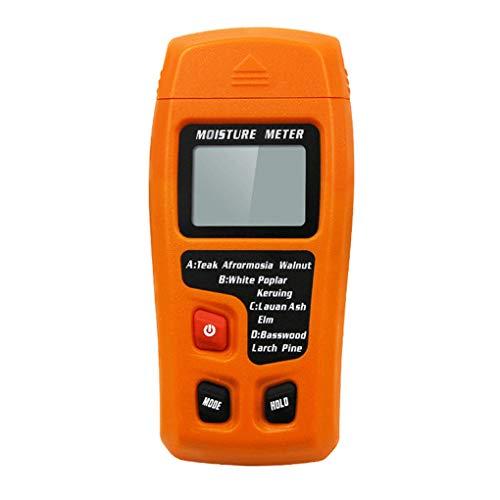 Hotaluyt Holzfeuchte-Messgerät Zwei Pins Digitale 0-99,9{590ff09c4f717069089ac8c5c9a963031cdf05afac7cb64513b4abd252190cc1} Holzfeuchte Tester LED Timber Damp Detector