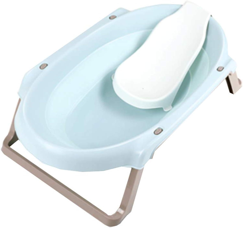 Babywanne faltend, neugeborene sitzende Lüge starke Babyfaltenwanne 90x52x22.5cm (Farbe   Blau)