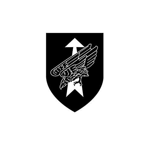 Copytec DSO - DSK Division Schnelle Kräfte Bundeswehr Division Spezielle Operationen Wappen Abzeichen Logo Kommando Spezialkräfte KSK (schwarz, 10 x 7cm) - Aufkleber/Sticker #A595