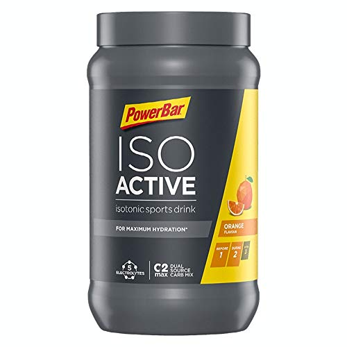PowerBar Isoactive Orange 600g - Isotonisches Sportgetränk - 5 Elektrolyte + C2MAX