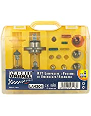 CARALL Kit bombillas de repuesto,Kits de bombillas universales,Coche Bombilla Set Con Fusibles