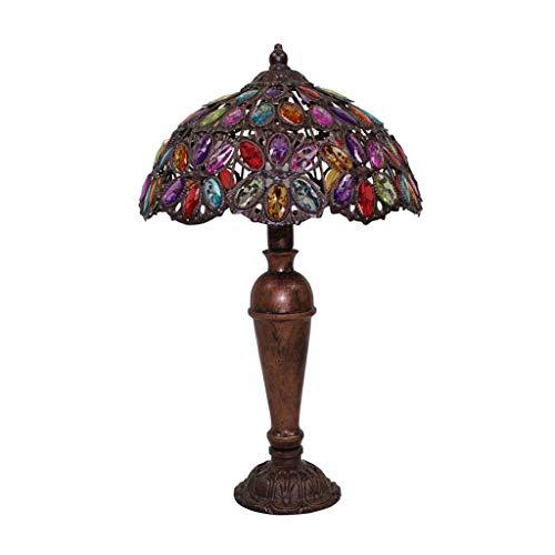 Bureaulampen tafellampen American Retro Style Verstelbare ijzeren tafellamp, plexiglas lampenkap, woonkamer slaapkamer nachtkastje studie bruiloft tafellamp, E14,12 * 30 * 50 cm Ti