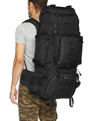 AmazonBasics Internal Frame Hiking Camping Backpack with Rainfly