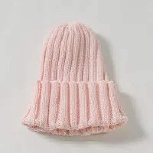 XCLWL Beanie dames muts kinderen hoeden jongens en meisjes candy kleur gebreide trui hoeden herfst en winter baby 1-8 jaar oud warme hoeden St-510 roze 1-10 jaar oud