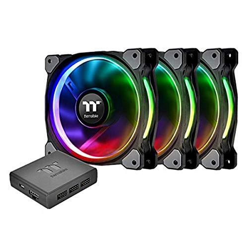 Thermaltake Riing Plus 12 RGB TT Premium Edition 120mm Software Enabled 12 Controllable LED RGB 9 Blades Case/Radiator Fan -Triple Pack. CL-F053-PL12SW-A