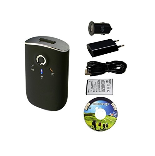 GT-750FL Bluetooth GPS Datenlogger / USB GPS Empfänger / Fototagger - Set mit Netzteil 100-240V