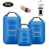 Gonex Waterproof Dry Bag Floating Roll-Top Dry Sack Stuff Sack Storage Bags for Kayaking Boating Canoeing Swimming Water...