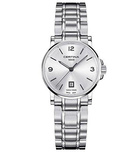Certina–Reloj de Pulsera analógico para Mujer (tamaño XS Cuarzo Acero Inoxidable C017.210.11.037.00