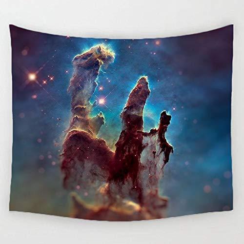 Playa puesta de sol árbol de coco espacio astronauta caballo patrón pared familia cabecera decoración tapiz colgante tela de fondo a1 130x150cm