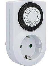 UNITEC Mechanische dagtimer mini, voor gebruik binnenshuis, analoog, wit, 30 minuten afstanden instelbaar, beschermingsklasse IP 20