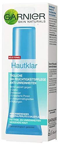 Garnier Hautklar Tägliche 24h Feuchtigkeitspflege Anti-Unreinheiten, Anti Pickel Gel mit Zink und Salicylsäure (1 x 40 ml)