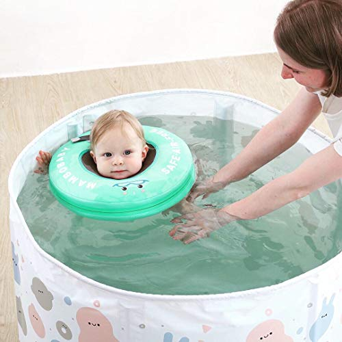 ベビーうきわベビーフロート赤ちゃん浮き輪首リング首うきわ首リング水泳トレーナー空気入れ不要二重保護安全ライナー心地良い軽い新生児12ヶ月まで