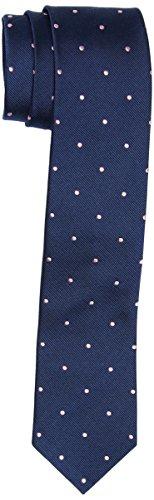 Brooks Brothers Tie REPP SL DOT Nvy/Pnk Cravatta, Blu (Navy 411), One Size (Taglia Produttore:0-) Uomo