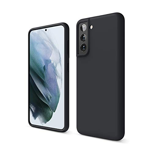 elago Funda de Silicona Líquida Compatible con Samsung Galaxy S21 Case, Silicona Premium, Protección Cover 3 Estructuras Antigolpes (Negro)