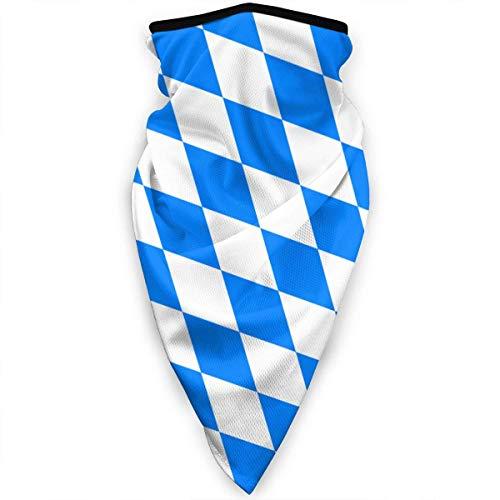 NA Sturmhaube Gesichtsmaske Multifunktionale Kopfbedeckung Neck Gaiter für Herren 3D Staubmaske Sonne UV Staub Winddicht Bayern Flagge