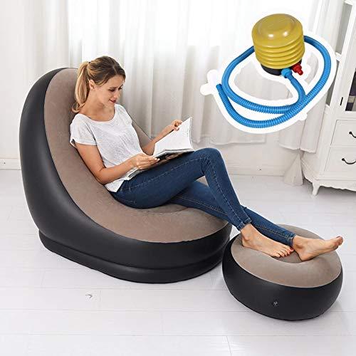 XUE-SHELF Einfache 2 gesetzte bewegliche Faule aufblasbare Sofa Außen Beach Fashion aufblasbares Bett-Aussenmöbel Gartenmöbel,116 * 98 * 83cm