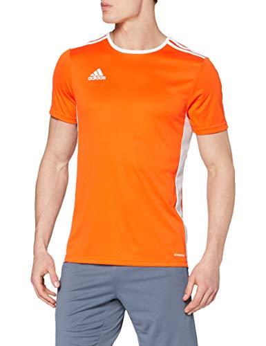 adidas Entrada 22 Camiseta de Fútbol para Hombre de Cuello Redondo en Contraste, Naranja (Orange/White), S