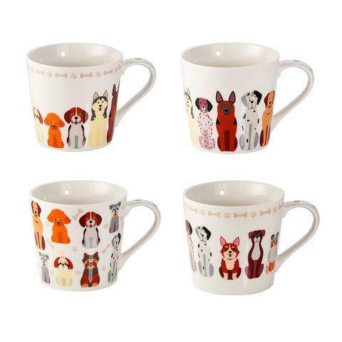 Juego 4 Tazas de Café Originales, Tazas Grande Mug para Te