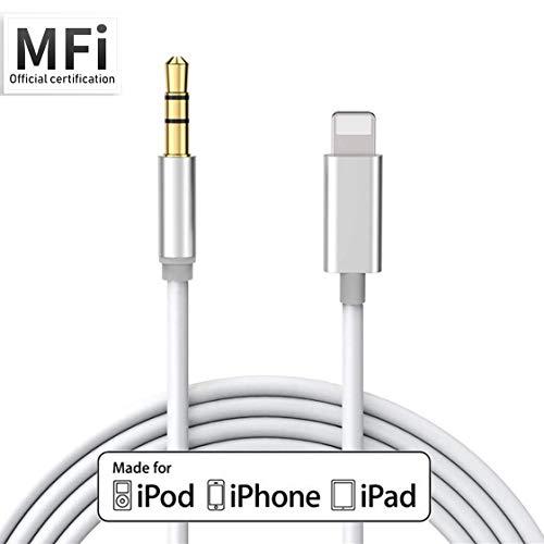 Cable Auxiliar Compatible para iPhone 11 Cable AUX para el automóvil a 3.5 mm Adaptador Estéreo Cables Cables Auriculares Estéreo Compatible con iPhone 7/7Plus/8/8 Plus/X/XS/XR Soporte iOS13 Más
