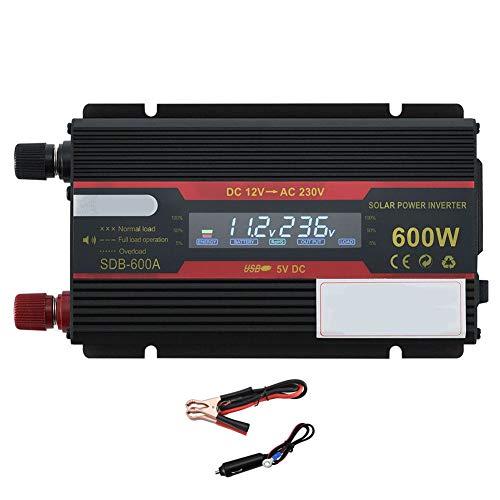 350W Auto Power Inverter DC 12V tot AC 230V 240V Converter met Car Charger Lichter Adapte, Universal Outlets en USB Port-piekvermogen 600W,12V