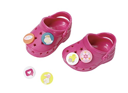 Zapf Creation 822890 - Baby Born Clogs mit Pins, Bordeaux
